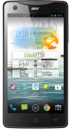 ACER Liquid S1 image on imei.info