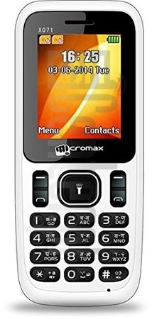 MICROMAX X071 image on imei.info