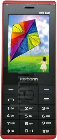 KARBONN K58 Star image on imei.info