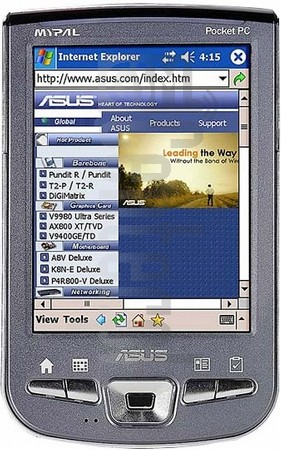 ASUS MyPal A730 image on imei.info
