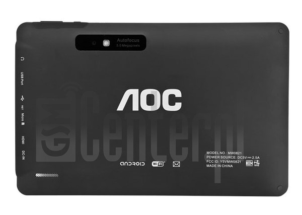 "AOC MW0821+ Breeze Tab 8"" image on imei.info"