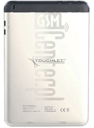 PEARL Touchlet X8 Quad Pro image on imei.info