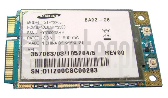 SAMSUNG Y3300 image on imei.info