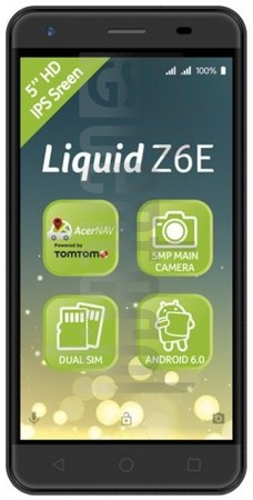 ACER Liquid Z6E image on imei.info