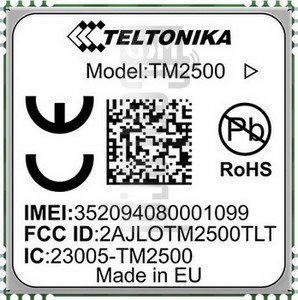 IMEI Check TELTONIKA TM2500 on imei.info
