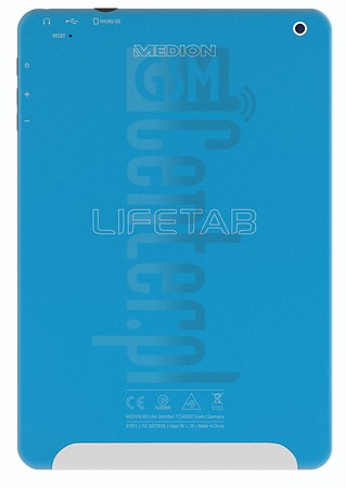 MEDION LIFETAB S7851 image on imei.info