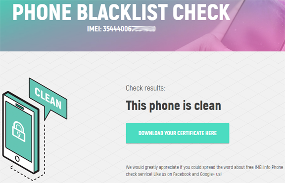 Black List Checker - News - IMEI info