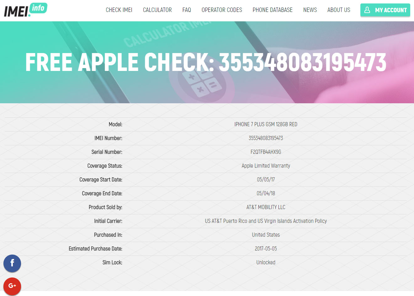 FREE iPhone CARRIER / WARRANTY Check - News - IMEI info