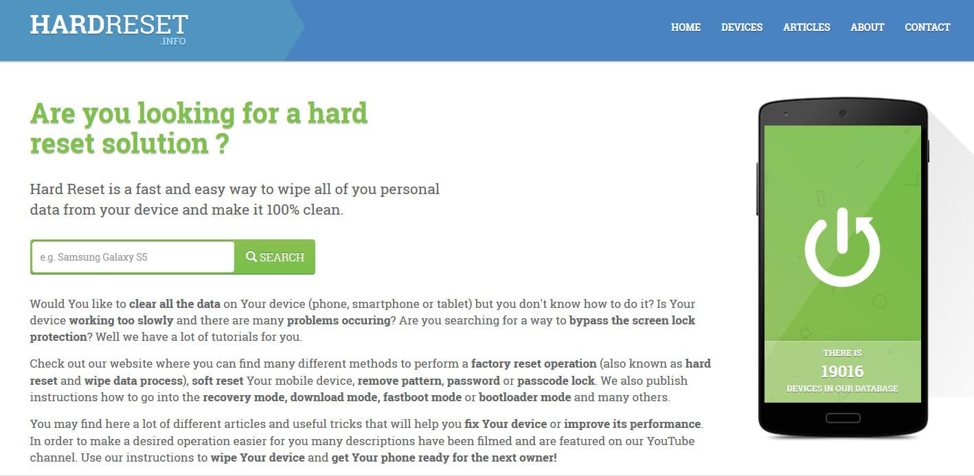 The biggest database of hard reset tutorials - News - IMEI info