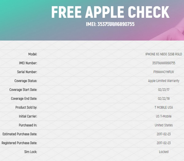 Free iPhone check - News - IMEI info