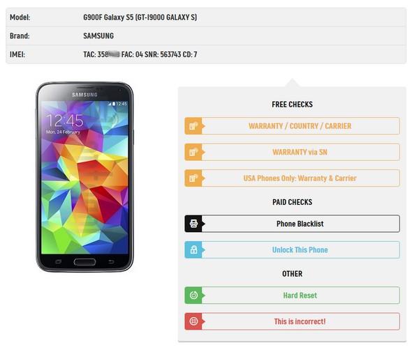 Samsung Warranty Check via SN - News - IMEI info
