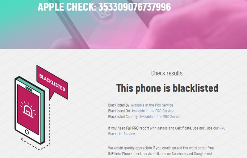 Free Phone Blacklist Checker! - News - IMEI info