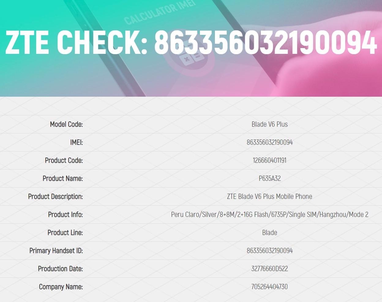 Free ZTE Warranty Checker - News - IMEI info