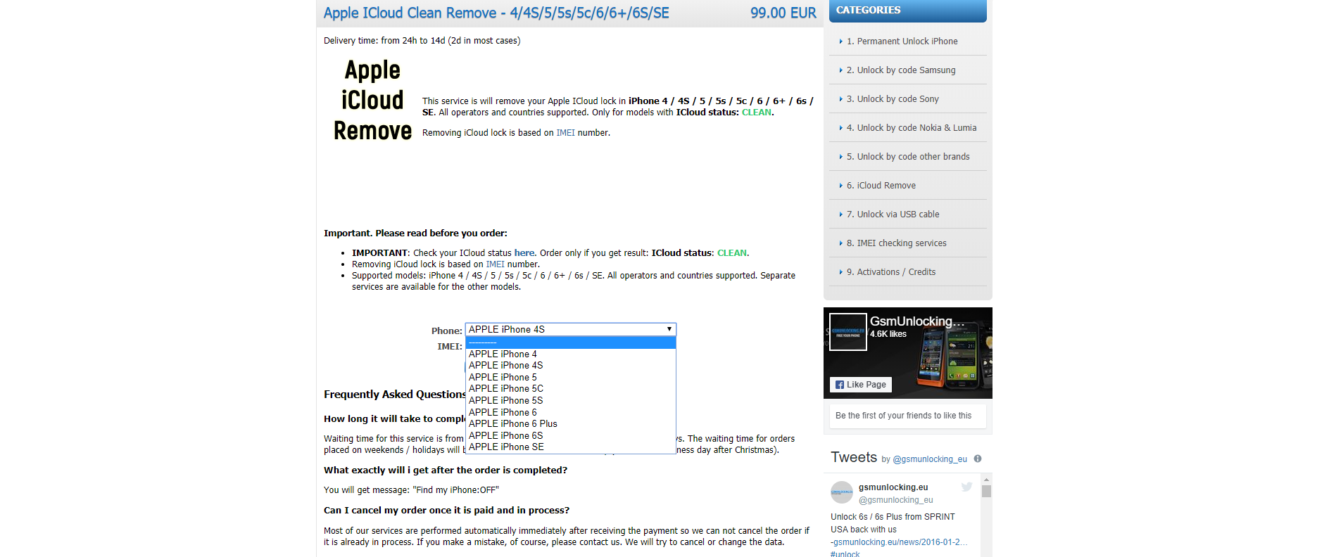 iCloud Clean Removal - News - IMEI info
