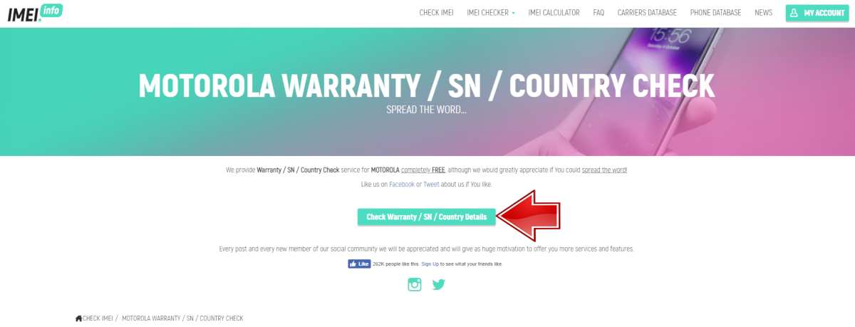 Motorola Warranty Checker