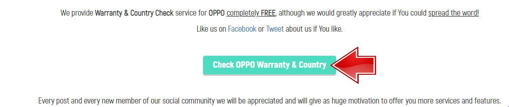 Check Oppo Waranty & Country