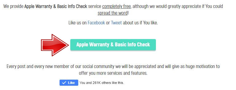 Click at Apple Warranty