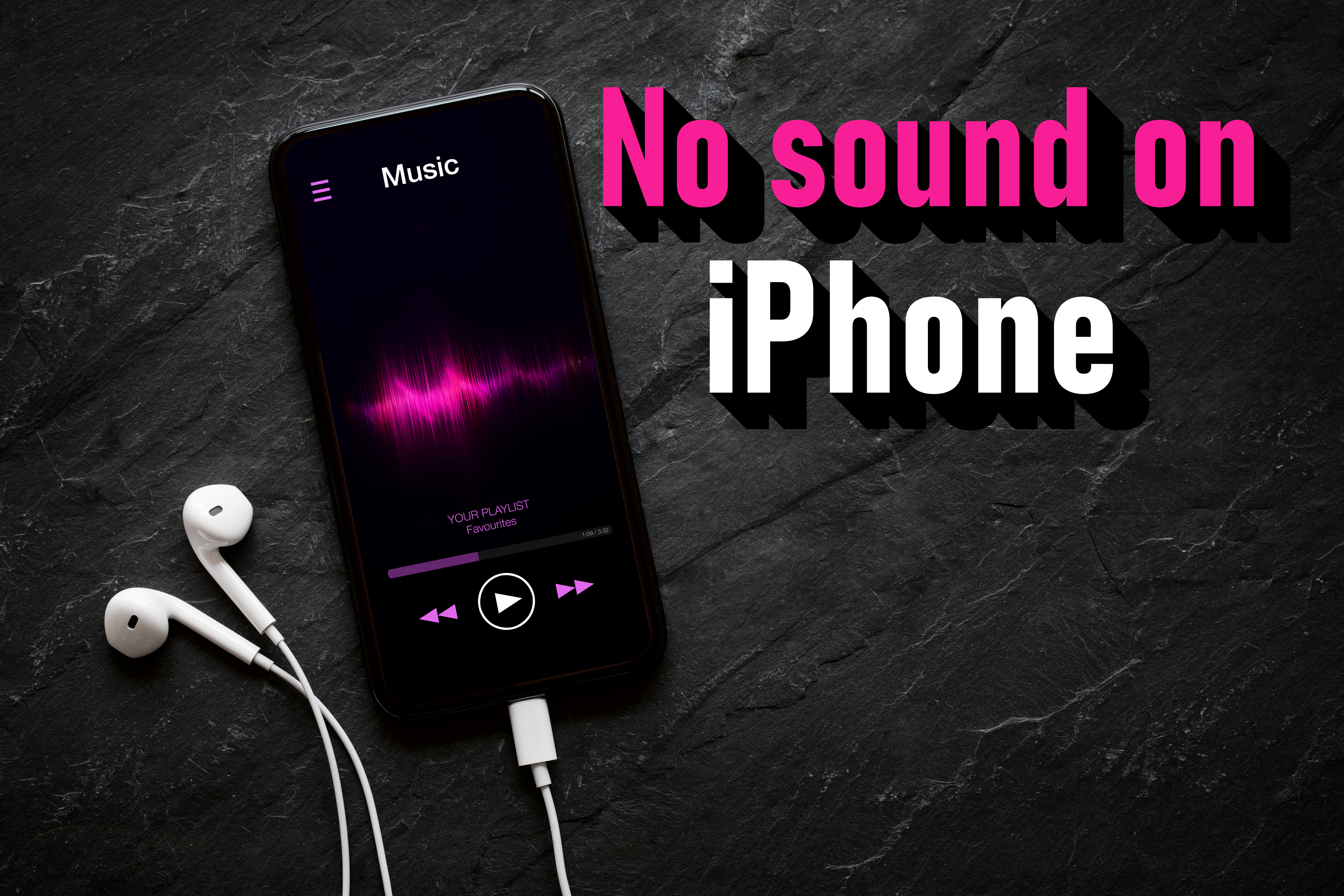 No sound on iPhone