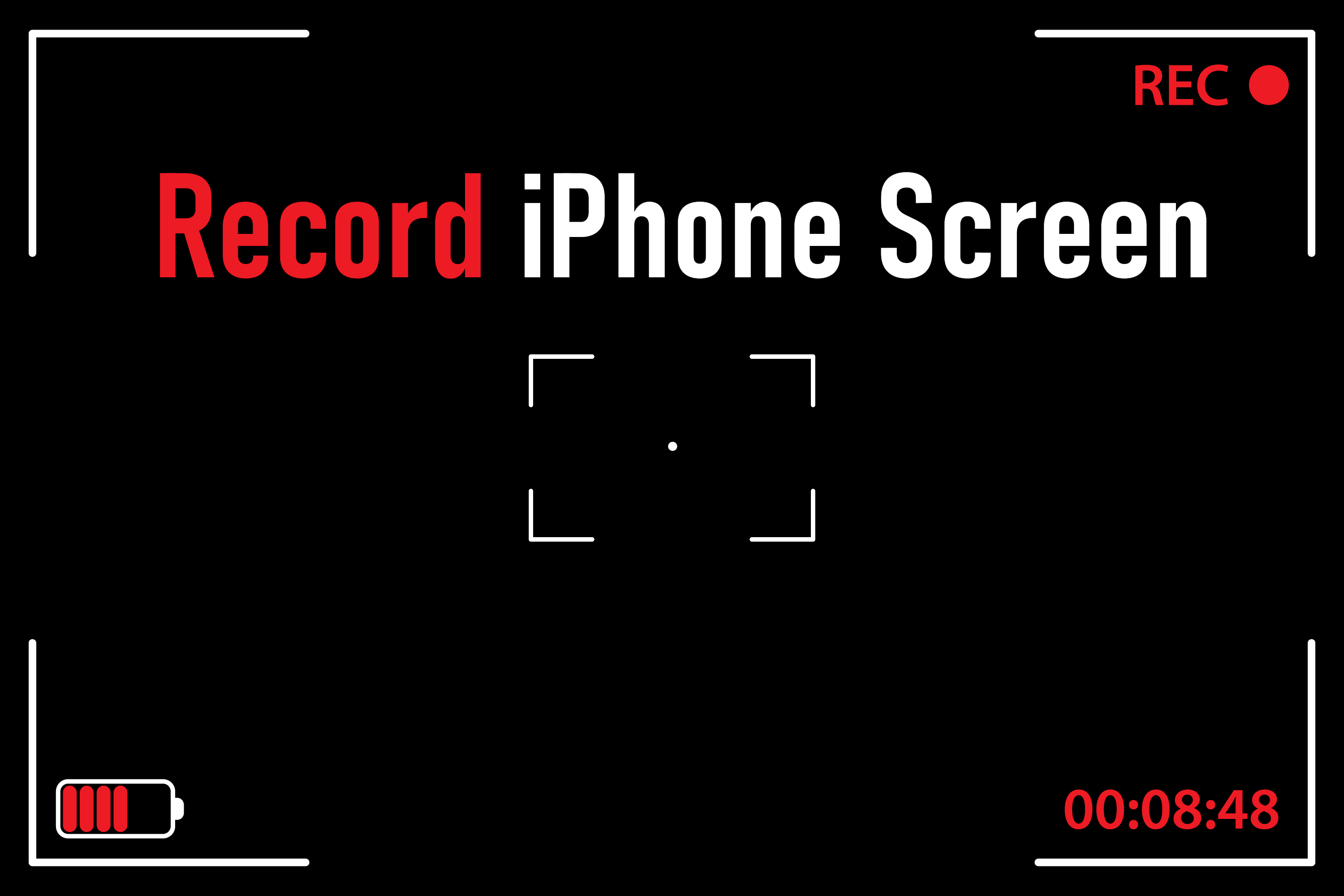 Recording Screen iPhone