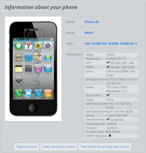 check imei iphone 4 gratuit