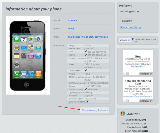 iPhone Check: Warranty & unlock WEB - GSM-Forum