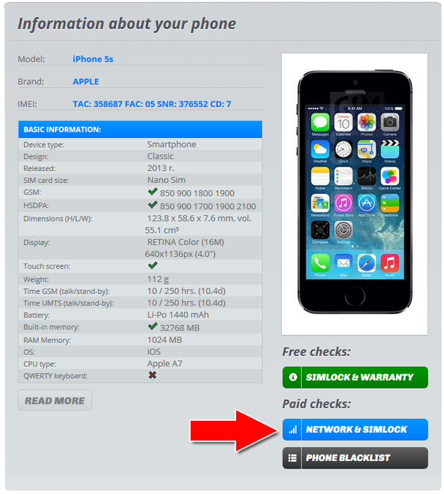 Iphone imei check sim lock