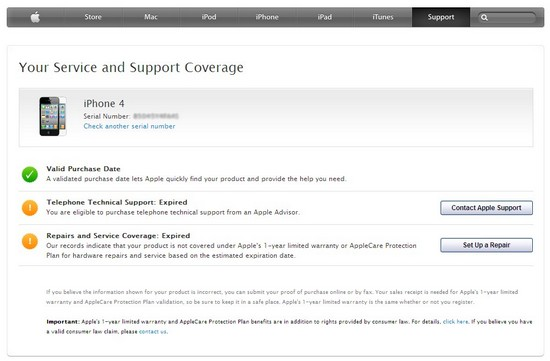 apple iphone 7 Plus seriennummer check